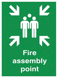 Fire assembly point  400x300mm 3mm Aluminium Safety Sign
