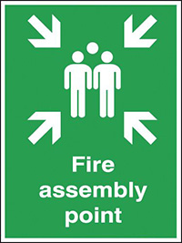 Fire Assembly Point   600x450mm 0.9mm Aluminium Safety Sign