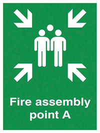 Fire Assembly Point A   400x300mm 0.9mm Aluminium Safety Sign