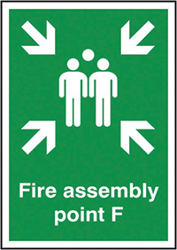 Fire Assembly PointF  297x210mm 1.2mm Rigid Plastic Safety Sign