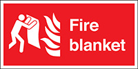 Fire Blanket  150x300mm 1.2mm Rigid Plastic Safety Sign