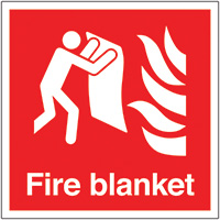 Thumbnail Fire Blanket  200x200mm 1.2mm Rigid Plastic Safety Sign