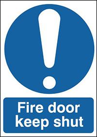 Fire Door Keep Shut 100x75mm Self Adhesive Vinyl Safety Sign