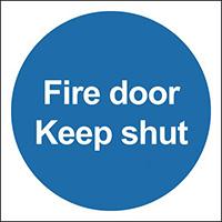 Fire Door Keep Shut 100x100mm Self Adhesive Vinyl Safety Sign