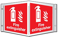 Fire extinguisher Projecting 3D Sign  200x400mm  Safety Sign