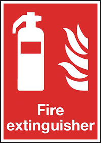 Fire Extinguisher  300x250mm 1.2mm Rigid Plastic Safety Sign