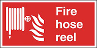 Thumbnail Fire Hose Reel  200x400mm Self Adhesive Vinyl Safety Sign