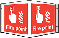 Fire point Projecting 3D Sign 200x400mm  Safety Sign