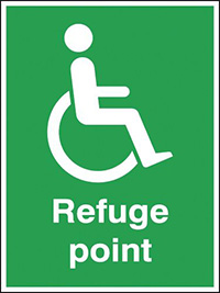 Refuge point  400x300mm 3mm Aluminium Safety Sign