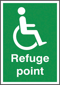 Refuge Point  297x210mm 1.2mm Rigid Plastic Safety Sign