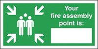 Your Fire Assembly Point Is  297x210mm 1.2mm Rigid Plastic Safety Sign