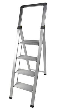 Climb-It Slim Folding Steps - 4 tread