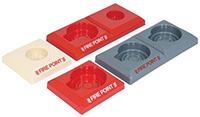 Economy Fire Points - 75 x 345 x 310mm Single - Red