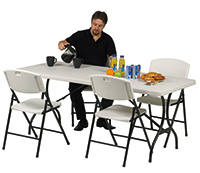 Folding Tables - Folding tables with folding legs - 1200Lmm