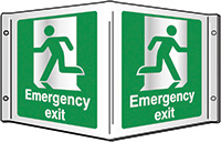 Emergency exit Projecting 3D Sign 200x400mm  Safety Sign