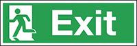 Exit Running Man Left  150x450mm 1.2mm Rigid Plastic Safety Sign