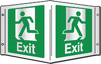 Exit Projecting 3D Sign 200x400mm  Safety Sign