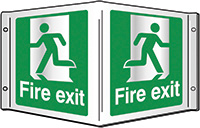 Fire exit Projecting 3D Sign 200x400mm  Safety Sign