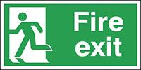 Fire Exit Running Man Left  150x300mm 0.9mm Aluminium Safety Sign