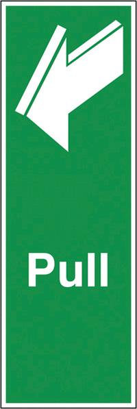 Pull  150x50mm 1.2mm Rigid Plastic Safety Sign