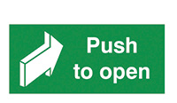 Push To Open  100x200mm 1.2mm Rigid Plastic Safety Sign