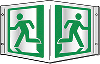 Running man symbol Projecting 3D Sign 200x400mm  Safety Sign