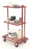 3 Tier trolley with fixed tiers to fit 3 x drop in containers