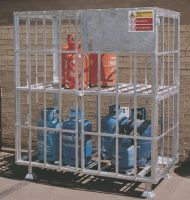 Static Gas Cylinder Carrier - Galvanised