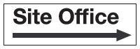 100x300mm Site office arrow right - Rigid
