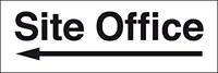 100x300mm Site office arrow left - Rigid