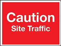 450x600mm Caution Site Traffic stanchion sign