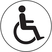 Disabled symbol  100mm Acrylic Safety Sign