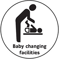 Baby changing facilities  100mm Acrylic Safety Sign