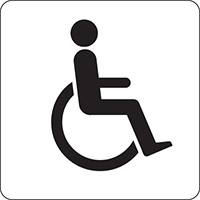 Disabled symbol  100x100mm Acrylic Safety Sign