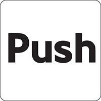 Push 100x100mm Acrylic Safety Sign