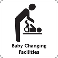 Baby Changing Facilities  100x100mm Acrylic Safety Sign