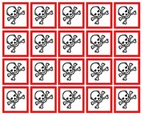 40x40mm Toxic GHS Symbols on a sheet