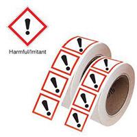 50x100mm Harmful/Irritant GHS Symbols on a tape