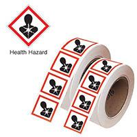 50x100mm Health Hazard GHS Symbols on a tape