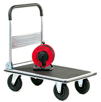 Large Wheeled Folding Trolley With a Foam Covered Handle