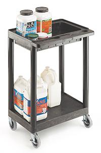 Plastic Multi Purpose Trolley Service Trolley - 1 Tray  1 Shelf