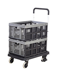 Foldaway  Platform Trolley with 2 x Removable Folding Boxes