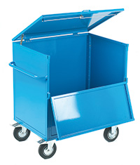 Security Trolley - Solid With Timber Deck