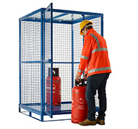 Folding Cylinder Cage - Galvanised  With Pallet Base