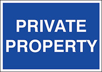 Private Property  300x400mm 1.2mm Rigid Plastic Safety Sign