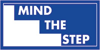 Mind the step  150x300mm 1.2mm Rigid Plastic Safety Sign