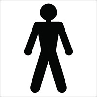 150x150mm Male Toilet symbol - rigid