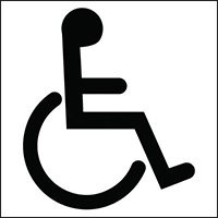 150x150mm Disabled symbol - rigid