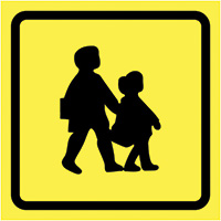 School Bus Sign 450x450mm  Safety Sign
