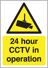 Thumbnail 24 Hour CCTV in Operation 420x297mm 1.2mm Rigid Plastic Safety Sign